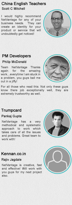 Read what our esteemed clients say about NetVantage!
